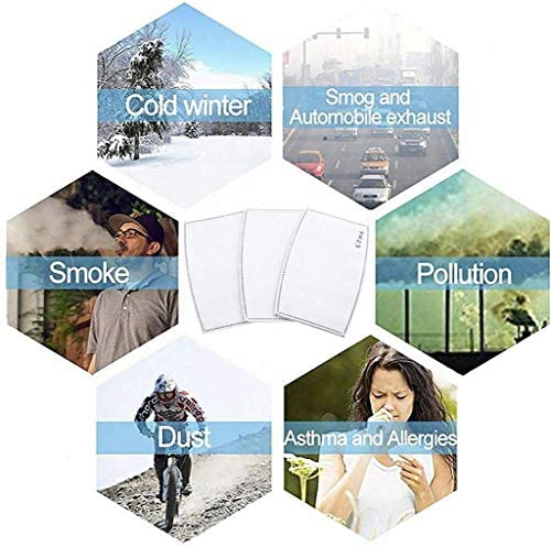 Adults PM2.5 Activated Carbon Filter Replaceable Anti Haze Filter Paper for Mask (30 PCS): Health & Personal Care