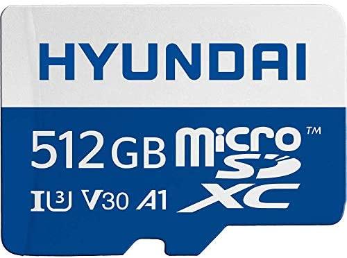 Hyundai 128GB 100MB/s (U3) MicroSD Memory Card with Adapter, 4K Video, Ultra HD (SDC128GU3): Computers & Accessories