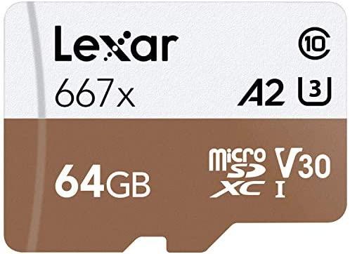 Lexar Professional 667X 128GB MicroSDXC UHS-I/U3 Card (LSDMI128BNA667A): Computers & Accessories