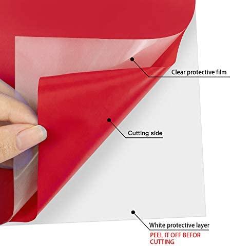 "HTV Heat Transfer Vinyl Bundle : 42 Pack 12"" x 10"" Sheets Iron on Vinyl,27 Assorted Colors Heat Transfer Vinyl for DIY Iron on Fabrics T-Shirts Heat Press Machine or Silhouette Cameo"