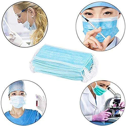 Fcae Mask Professional Disposable Earloop Medical Face Masks For Dust, Germ Protection, And Personal Health (50 Masks, Blue): Home Improvement
