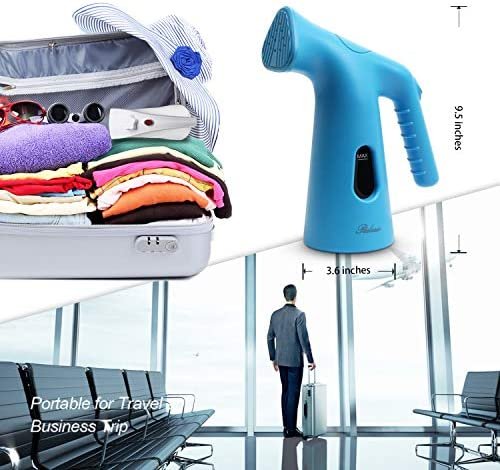 Ralasio Steamer for Clothes, Mini Handheld Travel Steamer for Clothes,4.1 oz Capacity Portable Garment Steamer with Multi Function: Fabric Wrinkle Remover- Clean- Refresh,Blue: Home & Kitchen