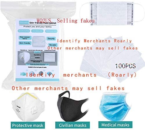 100 Disposable Filter Pads, Skin-Friendly and Breathable, Blocking Droplets, Safe Activated Carbon Breathing Filter, Disposable Air Purifying