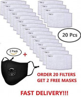La Volupte 20Pcs PM2.5 Activated Carbon Filter Breathing for Mask: Health & Personal Care
