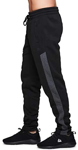 RBX Active Men's Athletic Fleece Lined Tapered Jogger Sweatpant with Pocket at Men's Clothing store