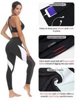 QUEENIEKE Women Yoga Pants Color Blocking Mesh Workout Running Leggings Tights: Clothing