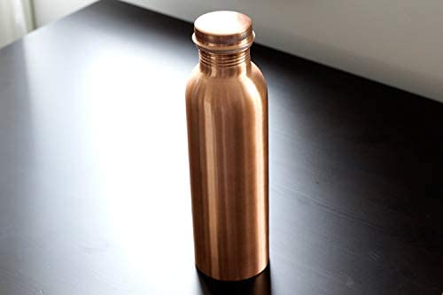 Kosdeg Copper Water Bottle 34 Oz Extra Large - An Ayurvedic Copper Vessel - Drink More Water, Lower Your Sugar Intake And Enjoy The Health Benefits Immediately: Kitchen & Dining