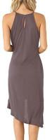 Eliacher Women's Casual Spaghetti Strap Summer Dress Bodycon Midi Party Sleeveless Dresses at Women's Clothing store