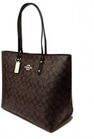 Coach Town Tote In Signature Canvas, Im/Brown/Black, X-Large: Shoes