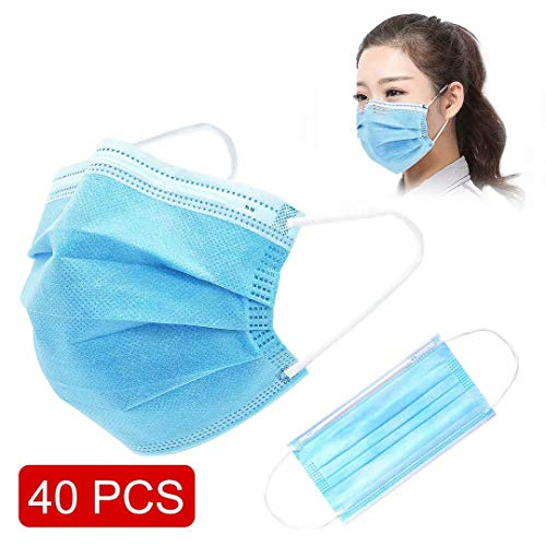 SKYLMW Protective 3 Layer Cover, Face Covers 40 PCS : Beauty