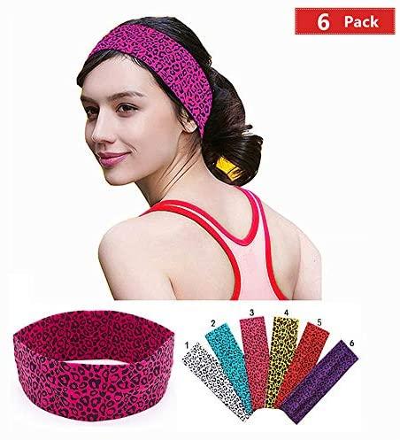 KATCOCO Headbands Stretch Elastic Yoga Soft and Stretchy Sports Fashion Headband for Teens Women Girls: Clothing