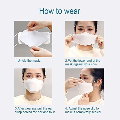 KF94 Face Masks Quadruple Filter 94% Filtration Adaptable Nose Bar 4-Layer Protective Face Mask Soft & Breathable Delivery completed in 3-5 days (6 Pieces): Home Improvement