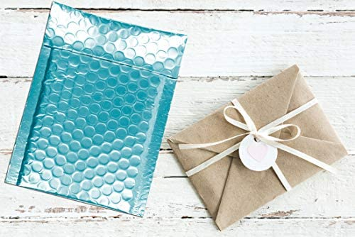 ABC 10 Pack Teal Bubble mailers 6 x 9 Metallic padded envelopes 6x9 Cushion envelopes Peal and Seal. Adhesive shipping bags for mailing, packing. Packaging in bulk, wholesale price : Office Products