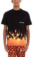 PALM ANGELS Luxury Fashion Mens PMAA001R204130171088 Black T-Shirt | Spring Summer 20