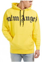 Palm Angels Men Hoodie Giallo: Clothing