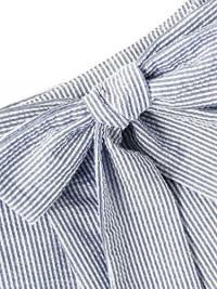 SweatyRocks Women's Casual Elastic Waist Striped Summer Beach Shorts with Pockets