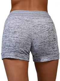 90 Degree By Reflex Soft and Comfy Activewear Lounge Shorts with Pockets and Drawstring for Women
