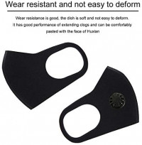 5pcs Washable Cotton Face Respirator with Filters Breather Valve for Adults, Reusable 口罩 Coronávirùs Virüs Flü Germ Protection Máscara for Dustproof Windproof PM2.5 (5+5Mask gasket, Black)