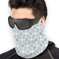EAZZEA Mens Warm Windproof Face Cover - Thick Dustproof Breathable Neck Cover: Clothing