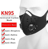 AIDIER Anti-Pollution Mouth Mask With 2 Face Masks Anti-Dust Cycling Mask Activated Carbon Filtration Exhaust Gas Biking Mask PM 2.5 Face Mask for Running Motorcycling Riding and Hiking