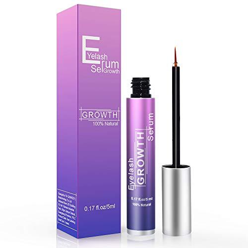 Eyelash Growth Serum, Eyelash Enhancer Lash Booster Eyebrow Growth Serum for Long, Luscious Lashes and Eyebrows-Irritation Free Formula(5ml) Blue: Beauty