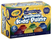 Crayola Washable Kids Paint, 6 Count, Kids At Home Activities, Painting Supplies, Gift: Toys & Games