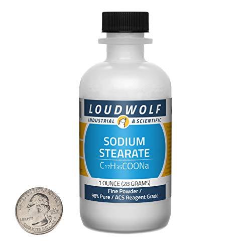 Sodium Stearate / 1 Ounce Bottle / 98% Pure ACS Reagent Grade/Fine Powder/USA: : Industrial & Scientific