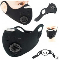 uniqute Durable Windproof Anti-Fog Breathable Activated Carbon Cycling Mask Masks: Home & Kitchen