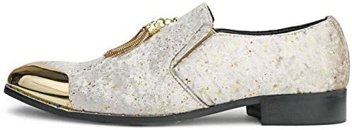 Amali Chaz, Men's Slippers - Loafers Men Slip on Shoes - Mens Casual Shoes - Man Made Velvet, Tuxedo Shoes - Metal Gold Chain Tassel & Gold Metal Tip, Dress Shoes - Gift | Loafers & Slip-Ons