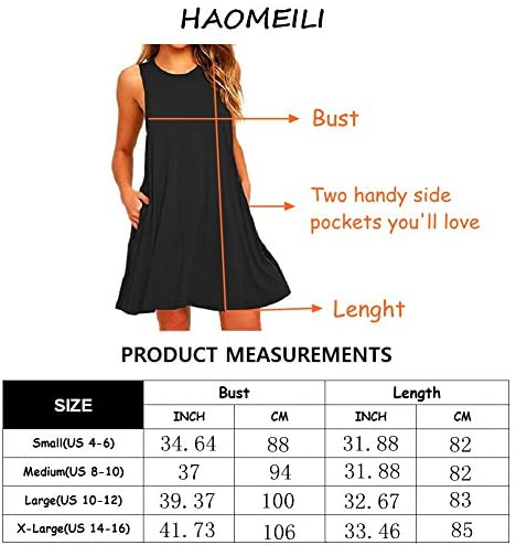 HAOMEILI Women's Summer Casual Swing T-Shirt Dresses Beach Cover up with Pockets at Women's Clothing store
