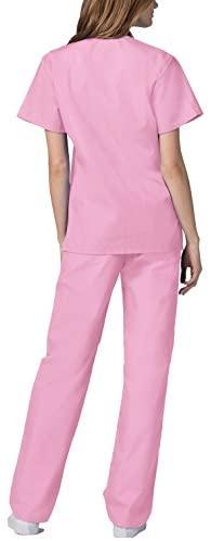Adar Universal Unisex Scrubs - Unisex Drawstring Scrub Set: Clothing