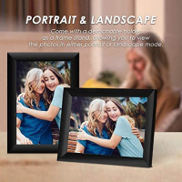 Scishion 10.1 Inch 16GB WiFi Digital Photo Frame with HD IPS Display Touch Screen - Share Moments Instantly via Frameo App from Anywhere : Camera & Photo