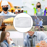 PM2.5 Anti Pollution mask Activated Carbon Filter for Breathing Insert Protective Reusable Cotton for adult Outdoor Activities (1 Mask + 2 Filters) (Navy Blue)