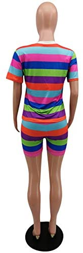 Adogirl 2 Piece Outfits for Women Tie Dye Clubwear Summer Sweatsuits T Shirts Short Pants Sets Tracksuit Jumpsuits Romper at Women's Clothing store