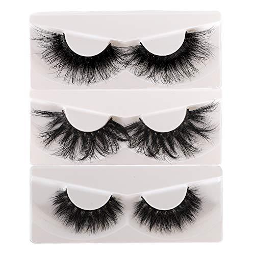 10 Pairs 25mm Lashes Fluffy Mink Eyelashes 100% Siberian Wholesale&Bulk Lashes Set : Beauty