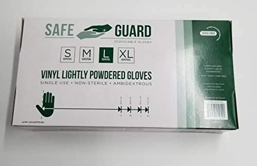 Disposable Large Vinyl Gloves 1000 Count *Lightly Powdered* [VGL]: Health & Personal Care