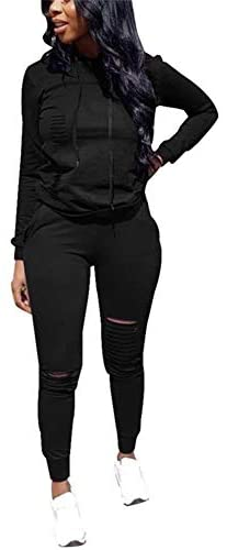 LKOUS Women's Letter Printed 2 Pieces Outfits Long Sleeve T-Shirt Tops and Skinny Long Pants Set Sweatshirt at Women's Clothing store