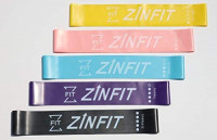 ZinFit Exercise Resistance Bands Set (5 Pc.) Flexible Loop for Stretching, Yoga, Pilates, Crossfit, Physical Therapy, Fitness   Light, Medium, Heavy   : Sports & Outdoors