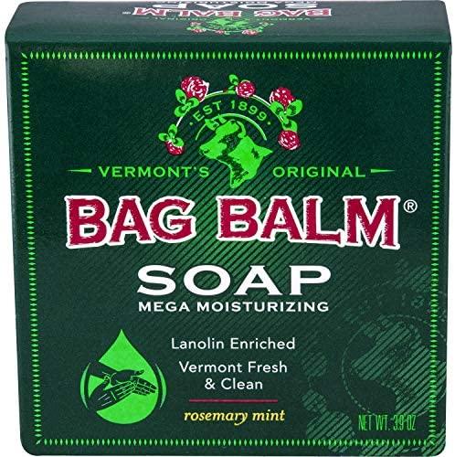 Bag Balm Mega Moisturizing Soap Rosemary Mint 3.9 Ounce Bar (Value Pack of 3): Health & Personal Care