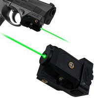 Lasercross Green Laser,Pistol Laser Sight Green Dot Tactical Sight Adjustable Low Profile Picatinny Rail Laser Pointer with Rechargeable Battery for Pistols & Handguns: Sports & Outdoors