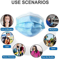Disposable Filter Mask 3 Ply Earloop Breathability Comfort Breathable Beauty Medical Dust Mask 50Pcs: Health & Personal Care