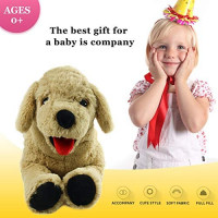 Houwsbaby Large Plush Golden Retriever Stuffed Puppy Pillow Pet Soft Dog Floppy Puppy Toy Cuddly Gift for Kids Boys Girls Birthday, Brown, 21'': Toys & Games