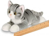 Bearington Lil' Socks Small Plush Stuffed Animal Gray Striped Tabby Cat, Kitten 8 inches: Toys & Games