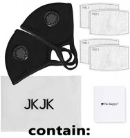 IKJK Pack 2 Particulate Respirator Facial Protection- Washable and Reusable Face Protection - Air Filter Dust, Smoke, Pollution for Men Women: Health & Personal Care