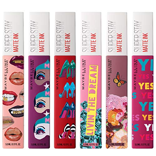 Maybelline New York SuperStay Matte Ink Liquid Lipstick X Ashley Longshore Kit, Range of 6 Shades, 6 Count: Beauty