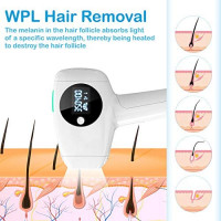 Facial & Body Laser Hair Removal for Women and Man,WPL Permanent Hair Removal Device with Ice Cooling Functions for Women Legs, Underarms, Bikini Area and Facial Hair: Health & Personal Care