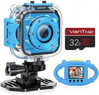 VanTop Junior K3 Kids Camera, 1080P Supported Waterproof Video Camera w/ 32Gb Memory Card, Extra Kid-Proof Silicon Case, Card Reader, Lanyard, Carrying Bag: Toys & Games