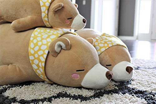 LazyPetz, Plush Toy, Stuffed Animal Bear with Scarf, Ages 2 and Up (20 inches, 50 Centimeters): Toys & Games