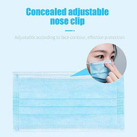50 Disposable Face 𝐌𝐀𝐒𝐊s Surgical Medical Dental Industrial Quality 3-Ply New Blue: Clothing