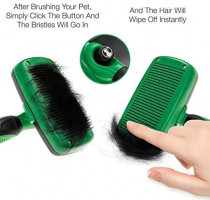 Slicker Brush for Dogs and Cats | Self Cleaning Professional Pet Grooming Tool | Removes Hair Undercoat & Loose Fur | Reduces Knots, Mats and Tangles | Best for Small, Medium and Large Dog : Pet Supplies